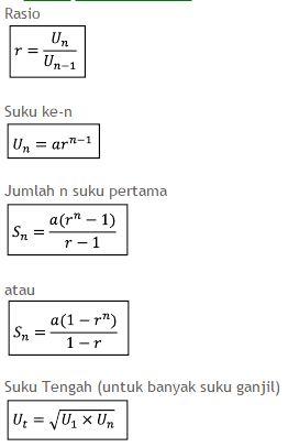Rumus Barisan Dan Deret Aritmatika Dan Geometri Serta Pembahasan Dan Perbedaannya Jogjamatematika
